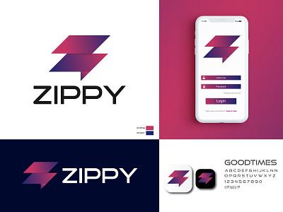 Zippy Logo Brand Identity Design chat box app icon logo icon letter z mobile app share chat app chat logo z logo logodesign company logo vector business logo gradient branding and identity logotype branding concept branding logo