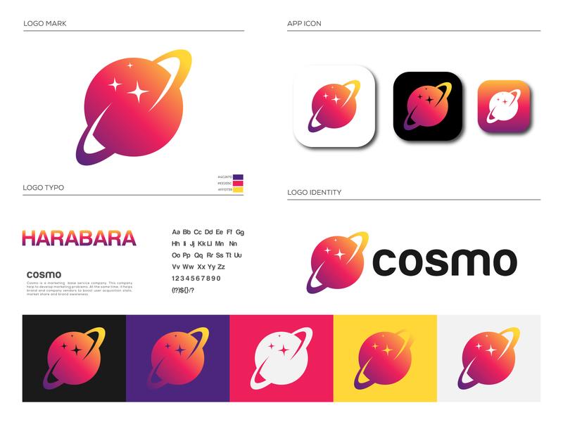 Cosmo Logo Brand Identity Design
