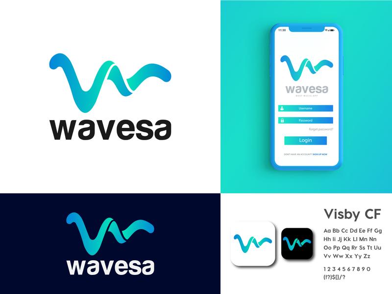 Wavesa Logo Brand Identity Design