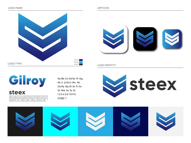 Steex Logo Brand Identity Design
