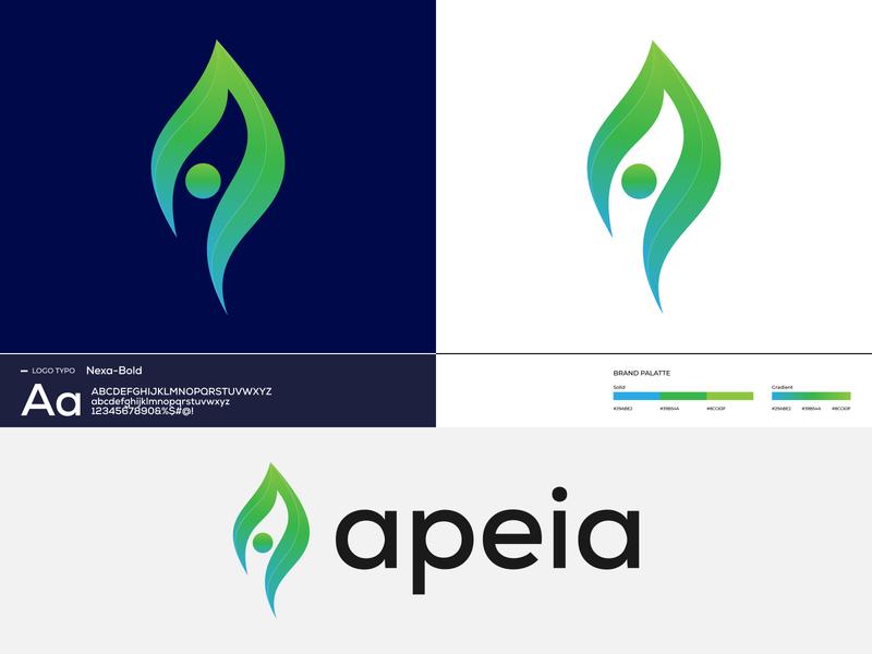 Apeia Logo Brand Identity Design   A Letter Mark