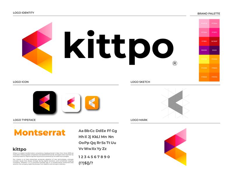 Kittpo Brand Identity Design   K Logo Mark