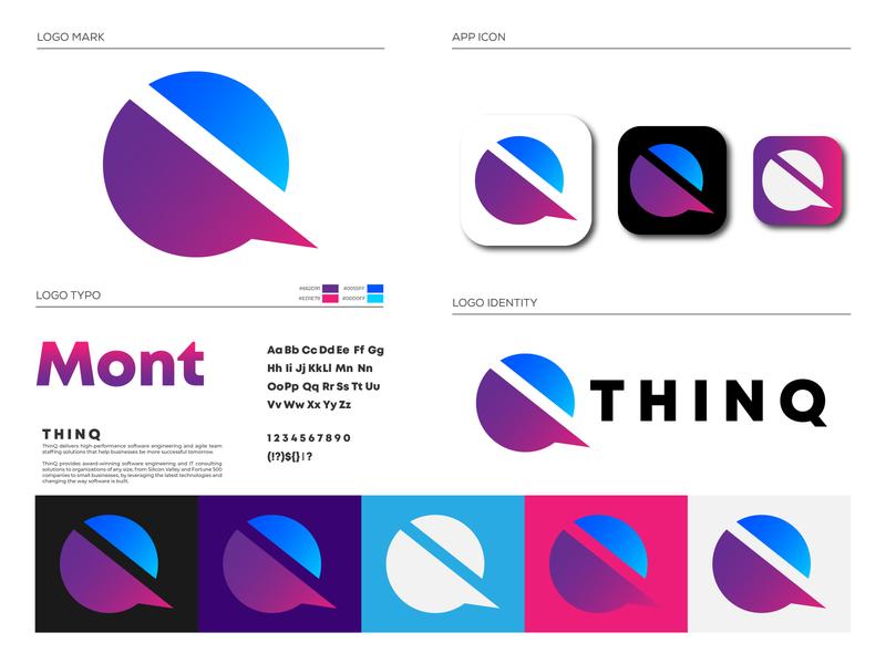 ThinQ Logo Brand Identity Design