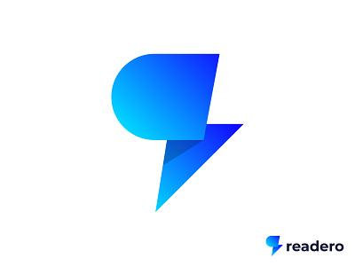 Readero Logo Design design vector monogram symbol minimal mark r letter r logo lettermark illustraion identity icon modern creative gradient app abstract branding logo designer logo design