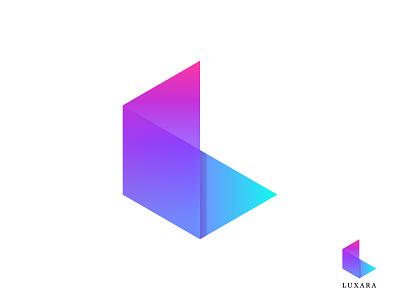 Luxara Logo Design logo design concept new technology design app logo app icon abstract 3d logo colors fashion letter mark logo mark l logo vector gradient branding concept logo designer logo design logo branding