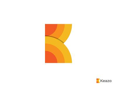Keazo Logo Design unique vector icon mark symbol sun app k letter monogram mark k logo lettermark creative colorful minimal abstract branding and identity logomark logotype logodesigner logo branding