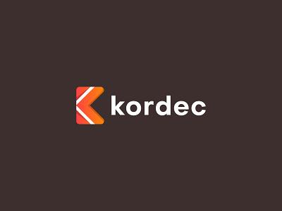 Kordec Logo Design app design tech logo abstract monogram concept idea design vector symbol creative brand logomark logotype letter mark logo k logo gradient logo logo designer branding app development company technology