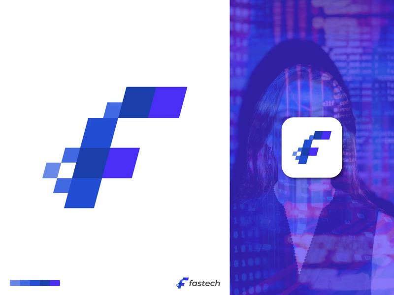 Fastech Logo Design corporate branding grid logo lettermark letter f f logo logomark logotype minimal minimalist logo creative logo app icon tech fast tech logo technology app logo branding logo trends 2020 logodesign logo designer