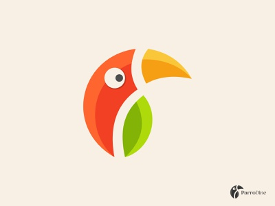 Parrot parrot logotype minimalist simple modern creative leaf 2d logodesigner logos business restaurant abstract logo vector bird animal flat design chili branding