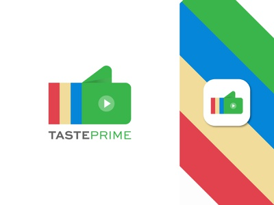 TastePrime Logo Design minimalist thumbs up creative feedback movie minimal clean unique logomark logotype logo simple design vector icon mark symbol app icon review logo designer abstract branding 2d