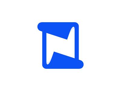 Newspedia Logo minimalism symbol vector design negative space simple minimalist blue creative logo logomark logotype lettermark n logo newspaper logo designer 2d flat minimal branding