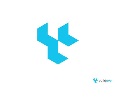 Buildovo Logo Design interior abode 2d 3d design modern creative company home house redesign build isometric geometric logo designer negative space logo abstract logo logotype branding