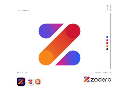 Zodero Logo Design logo maker design monogram logo modern logo gradient logo typeface logo identity logotype logo mark logo idea logo design logo designer z letter z logo app logo app icon branding and identity branding abstract 3d