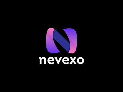 Nevexo - Logo Design logo identity gradient creative logo design branding modern logo app logo typeface marketing agency lettermark letter n n logo abstract brand identity branding logotype logo mark logo designer logo design logo
