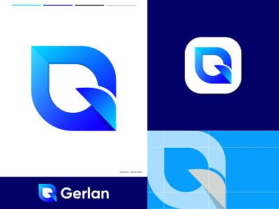 Gerlan - Logo Design 3d abstract app icon app logo branding branding and identity design gradient g logo letter g logodesigner logomark logotype logo idea modern logo monogram logo vector icon mark symbol logo identity technology letter g logo