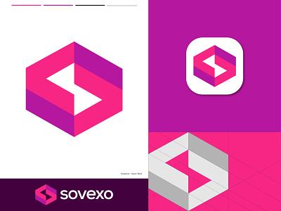 Sovexo Logo Design logo mark geometric icon design logo identity brand identity minimalist flat vector icon mark symbol app icon app logo modern logo creative logo designer letter logo letter s s logo 3d logo abstract logo design branding