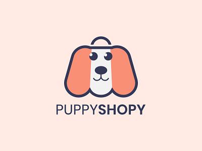 Puppy / Pet Shop Logo pet store unused logo logo identity branding logo designer creative character doggy puppy minimal flat cartoon animal logo dog logo dog cute animals adorable petshop pets cute
