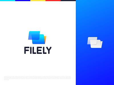 Filely - Logo Design branding logo mark symbol icon paper management document logo mark logo type app icon logo design logo gradient logo modern logo abstract logo designer file logo file manager file logo identity identity design monogram