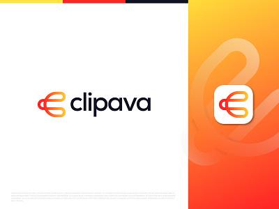 Clipava - Logo Design geometric design agency paperclip monoline modern logo app icon app logo logo identity identity design logo logo design clips logotype gradient vector letter mark monogram c logo clip logo mark symbol icon branding