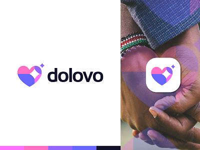 Dolovo Logo best logo logo designer logo design dating logo star modern logo love branding brand identity concept graphic design conceptual abstract logotype l o g o lo go creative logo logo 2021