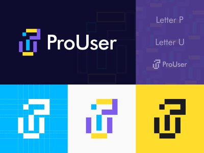 ProUser Logo modern creative games branding agency abstract monogram logo graphic design gaming esports branding logo mark combination logo letter u letter p user logo designer logotype lo go l o g o logo