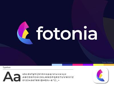 Fotonia App Logo Design unique logo graphic design logo agency gradient logo letter logo design f logo modernism creative modern logo 2021 app icon app logo best logo logo designer logo design logo photo brand identity branding