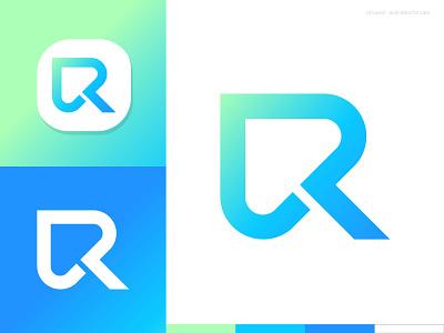 Letter R + Click logo mark symbol monogram letter typography logotype negative space logo mark symbol click click logo r r letter logo r letter negativespace negative space logo r monogram gradient gradient logo branding