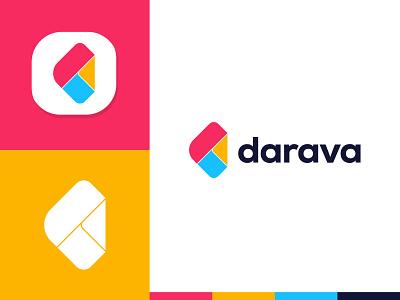 Darava Logo tech logo design agency design studio freelance logo designer d mark letter symbol app icon app logo brand identity logotype modern logo letter d concept logo designer page d logo branding logo