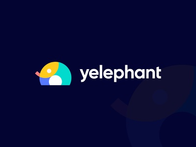 Yelephant  - Logo Design modern logo 2021 creative logo design brand and identity best logo designer in dribbble hire logo designer monogram logo geometric logo minimalist logo symbol mark icon logo grid circle icon design abstract animal logo concept design overlapping elephant logo designer brand and identity logo design branding