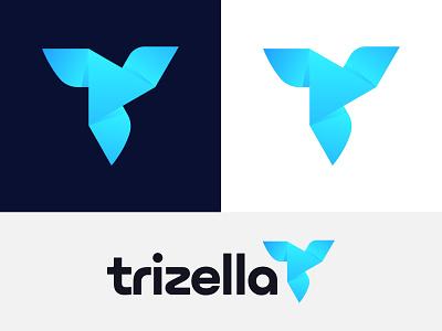 Trizella - Logo Design monogram identity logo mark graphic design icon mark symbol app logo modern logo creative logo brand and identity ideas insights triple design vector gradient logo designer abstract logotype logo branding