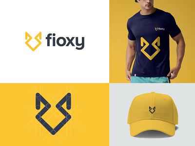 Fioxy - Brand Identity company branding brand and identity yellow logotype simple minimal creative animal fox symbol mark icon vector logo designer illustrator design logo branding
