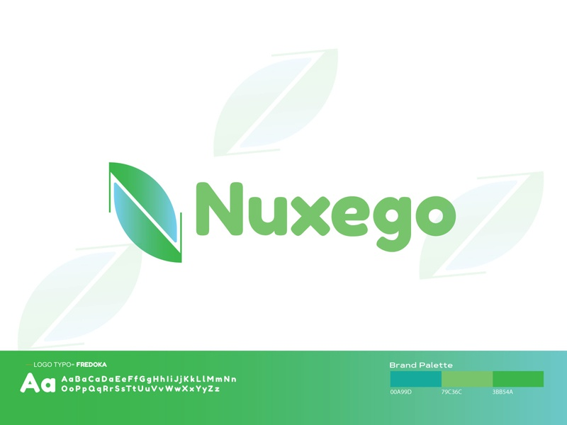 Nuxego Logo design gradient design gradient mesh illustration vector logodesign gradient icon branding concept gradient branding and identity branding