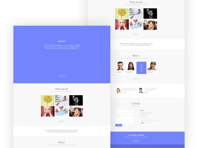 Creativity  theme one page wordpress joomla porfolio clean simple showcase