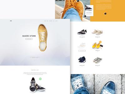 Quark Store wordpress themes joomla templates store ecommerce landing page product gavick gavickpro theme template shoes sneakers