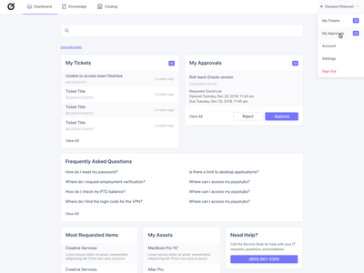 ServiceNow Employee Portal design ui interface