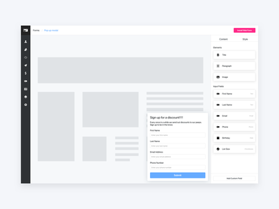 Web Forms editor web forms ux ui design interface