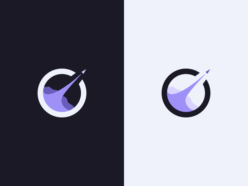 Rocket Logo light dark spaceship space identity illustration launch rocket design branding logo