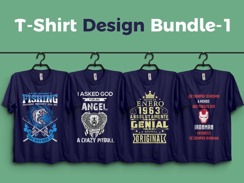 ✰ T shirt Design-1 & Free Mocup Download ✰