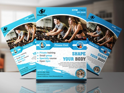 Gym Flyer Design designs, themes, templates and downloadable