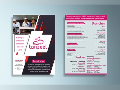 Double Side A5 Flyer Design