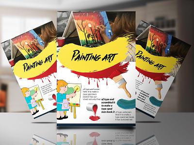 Paint art Flyer Design design business card mockup gym flyer design business flyer design flyer card design business card design business card template business flyer branding
