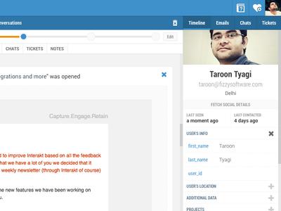 Interakt.co -  New profile view profile timeline view ui ux web design