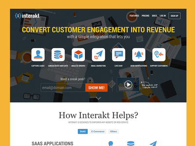 Interakt.co - Home Page website design landing ui photoshop saas