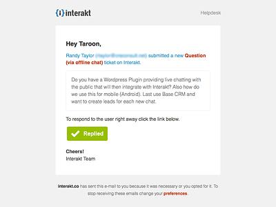 Interakt.co - Email Notification email design ui ux web
