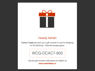 Gift Card - Emailer modern flat ui emails coupon design email