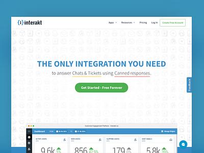 Interakt Homepage ui web design site home page tools saas inetrakt