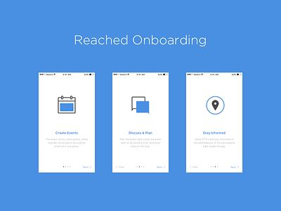 Reached iOS App -  Onboarding Screens interface iphone app minimal flat mobile app ios onboarding