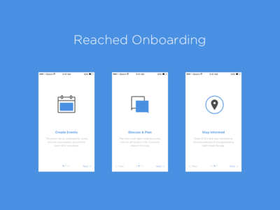 Reached iOS App -  Onboarding Screens