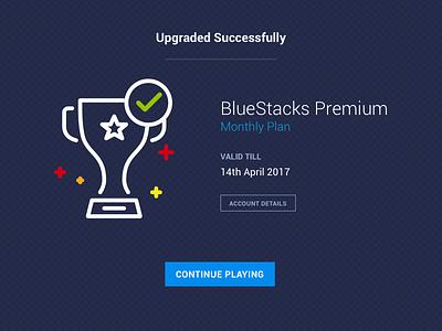 BlueStacks - Premium confirmation ui premium design bluestacks