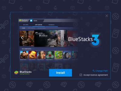 BlueStacks 3 -  Installer dark interface manager ux ui instance design bluestacks